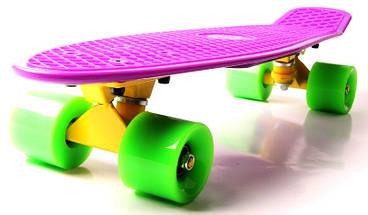 "Скейт ""Penny Board"" ""Fish"" Фиолетовый цвет., фото 3"