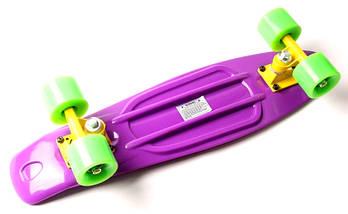 "Скейт ""Penny Board"" ""Fish"" Фиолетовый цвет., фото 2"