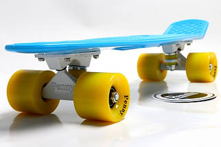 "Скейт ""Penny Board"" Голубой цвет. Гравировка., фото 2"