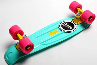"""Скейт """"Penny Board"""" Бирюзовый цвет. Гравировка, фото 3"""