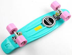 """Скейт """"Penny Board"""" """"Pastel Series"""" Бирюзовый цвет.Матовые колеса., фото 2"""
