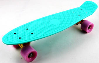 """Скейт """"Penny Board"""" """"Pastel Series"""" Бирюзовый цвет.Матовые колеса., фото 3"""