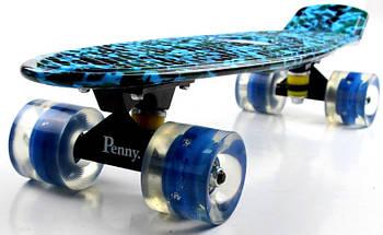 """Скейт """"Penny Board"""" """"Military 2"""" Светящиеся колеса, фото 2"""