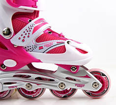 Ролики Superpower. Pink/Red.размер 34-37 PU, фото 3