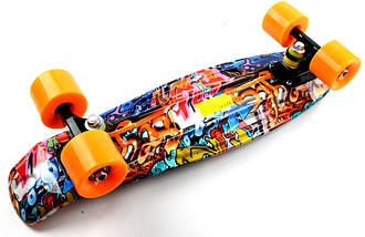 "Скейт ""Penny Board"" ""Cool Draft 2"" Graffiti, фото 2"