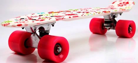 "Скейт ""Penny Board""  ""White Flowers"", фото 3"