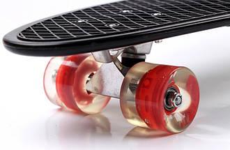 """Скейт """"Penny Board"""" Nickel 27"""" Black Светящиеся красные колеса, фото 2"""