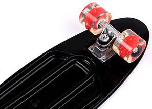 """Скейт """"Penny Board"""" Nickel 27"""" Black Светящиеся красные колеса, фото 3"""