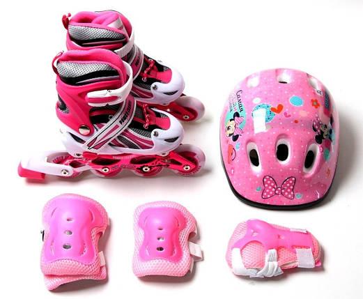 Комплект роликовый Power Champs Pink размер  29-33, фото 2