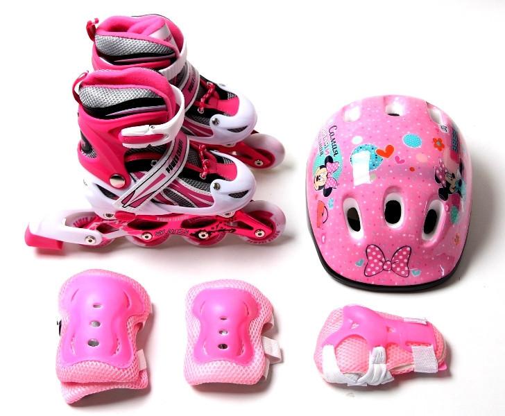 Комплект роликовый Power Champs Pink размер  34-37