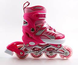 Ролики Happy 2 Pink, размер 29-33, фото 3