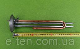 Тэн медный гнутый для бойлеров 2000 Вт (на фланце Ø92мм) с 2-мя нержавеющ. трубками под термодатчики   Украина