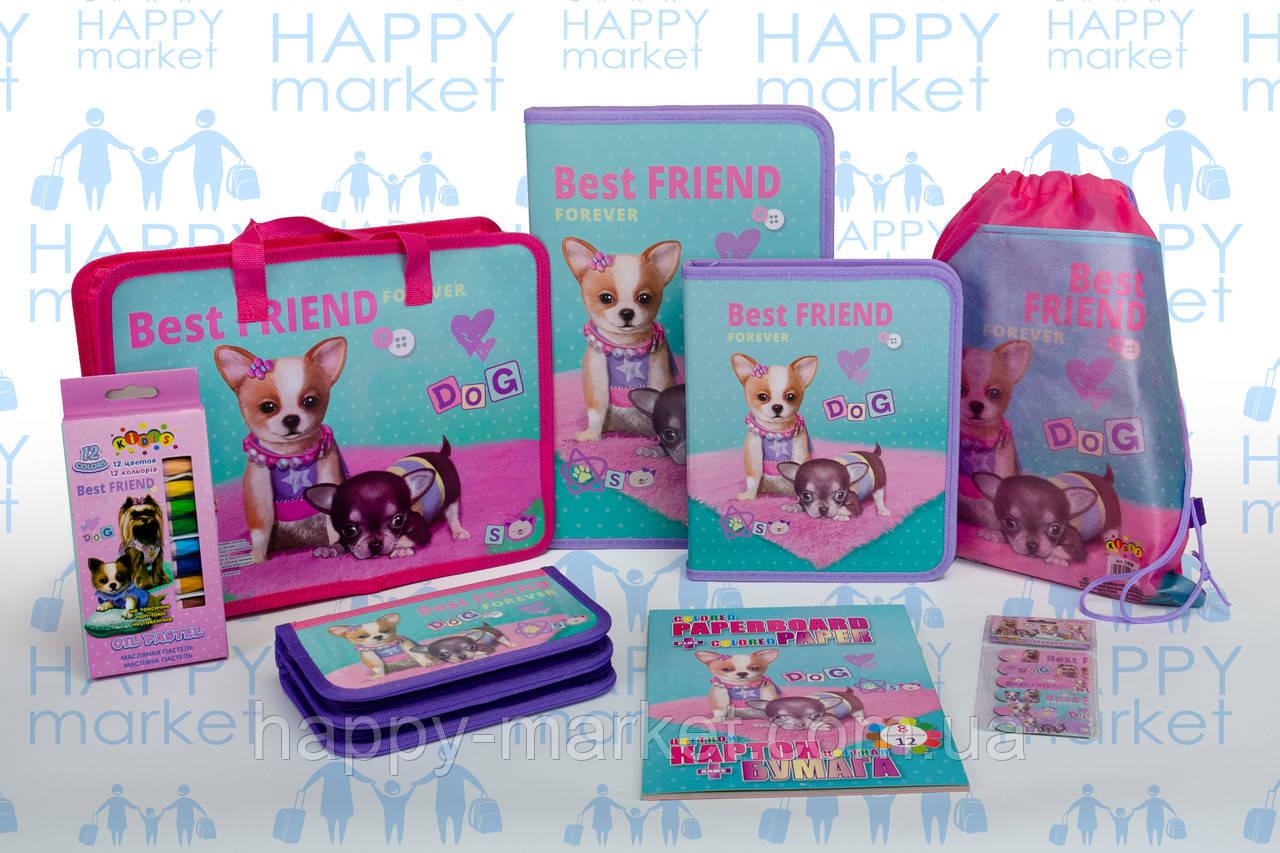 Набор школьный подарок первокласснику Kidis Собака №2-1