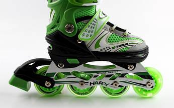 Ролики Happy Light green/Black размер  38-42, фото 3