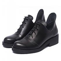 Туфли черные кожаные 902-00, фото 3