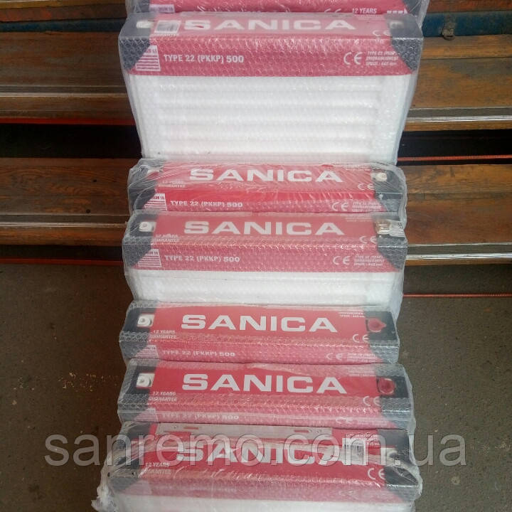 Радиатор стальной SANICA 22 500x2600 (пр-во Турция, 22 класс, высота 500 мм)