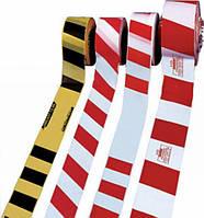 Лента оградительная «Стандарт» 100м. п, 75мм, 50мкм желто/черная