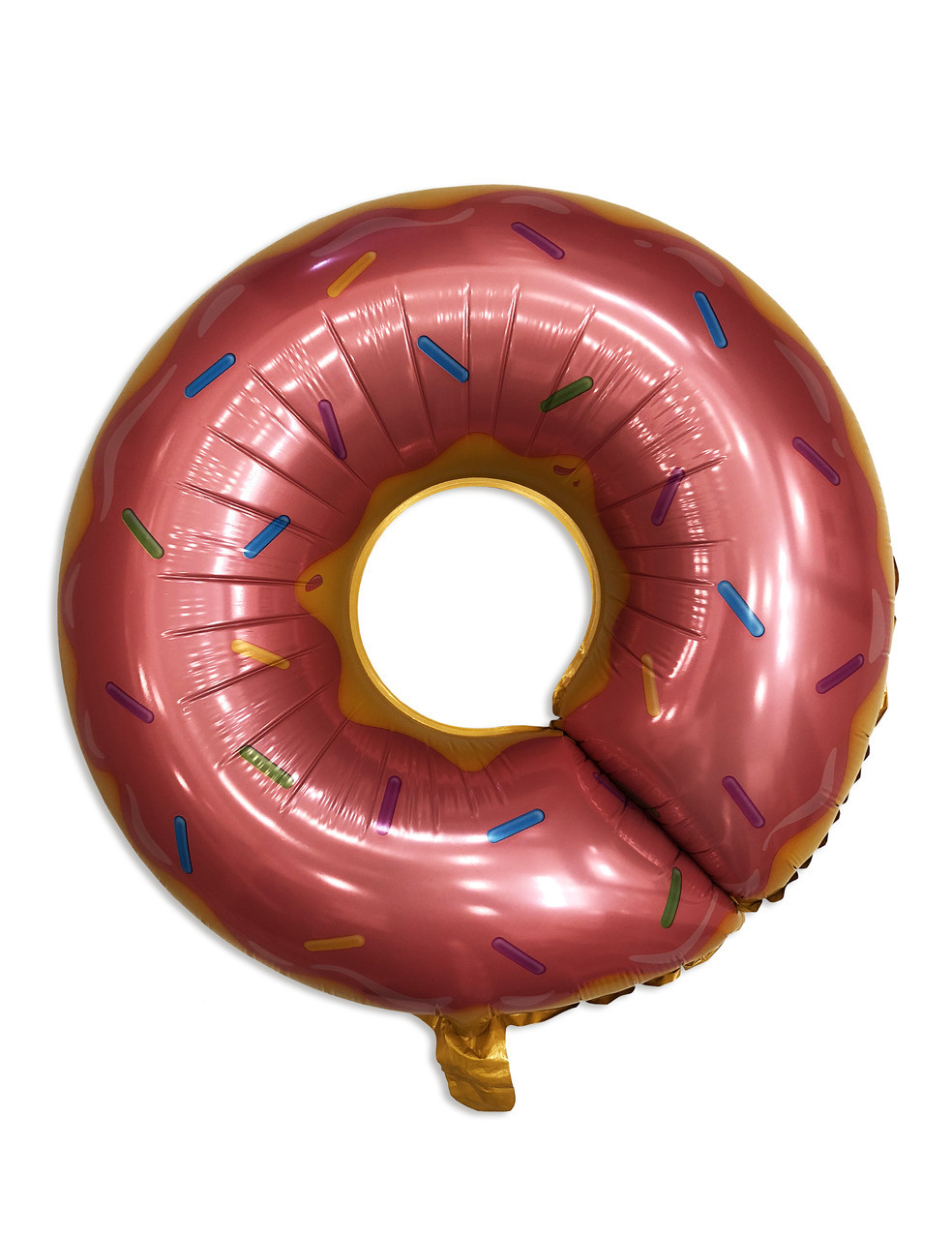 """Фольгований куля фігура """"Пончик рожевий"""", 80 см"""