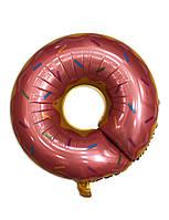 """Фольгированный шар фигура """"Пончик розовый"""", 80 см"""