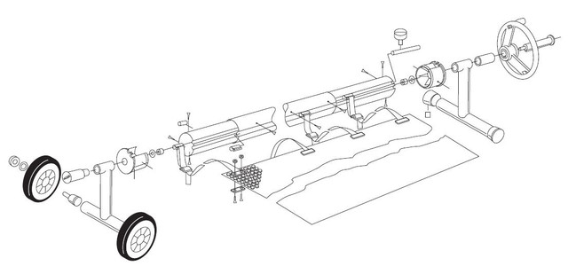 Состав сматывающего устройства для солярной пленки