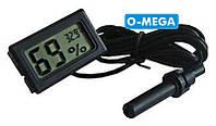 Термометр, гігрометр з виносним датчиком, фото 1