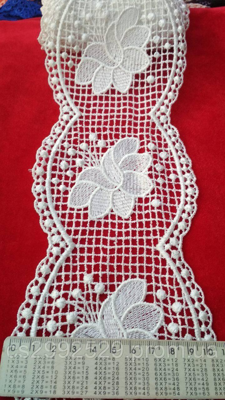 Кружево сетка 9 метров цветы. Кружево макраме цветы Турецкое. Цвет белый