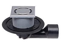 HL80 Трап для балконов и террас  с поворотным шарниром от 0° до 90°, горизонтальный отвод DN50/75