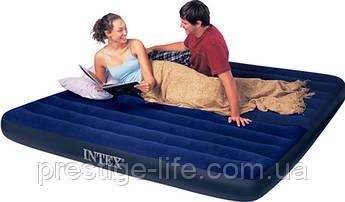 Двуспальная надувная кровать Intex 68755 (203 х 183 х 22см)