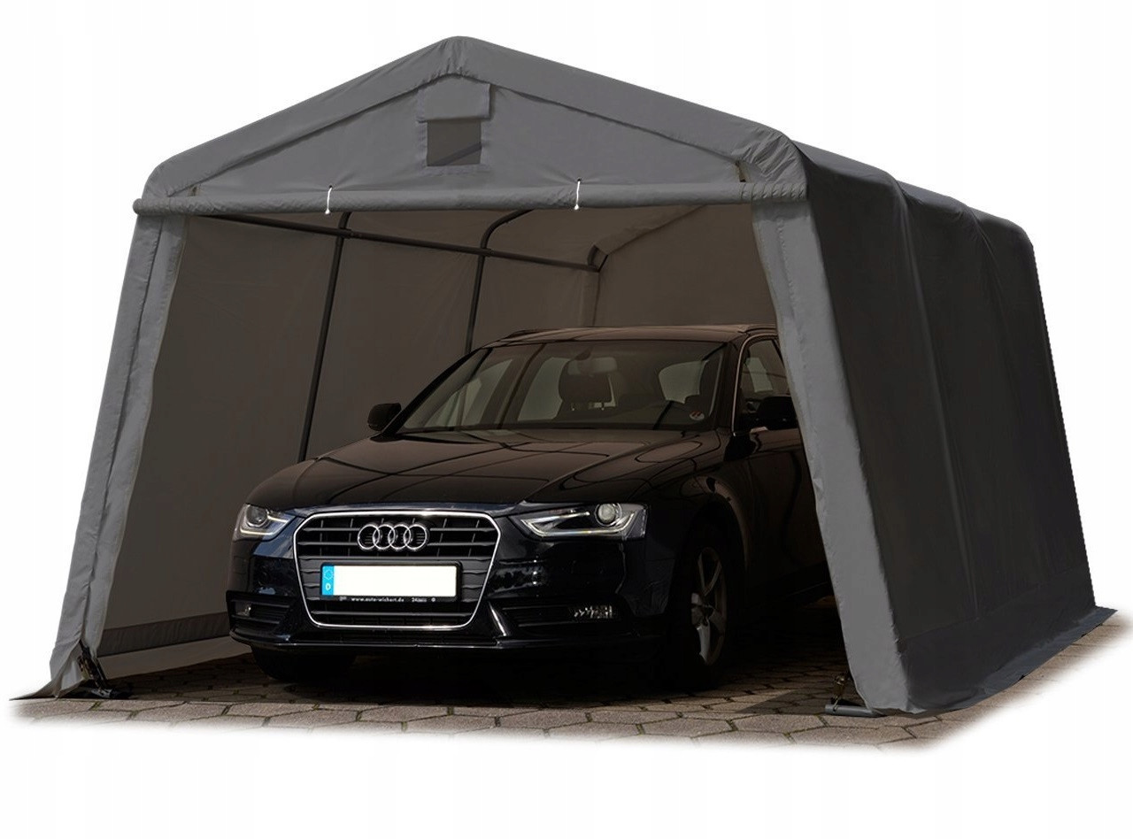Павильон гаражный 3,3x4,8 м ПВХ 500 г/м² (Серый)