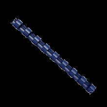 Пружины пластиковые d 14 мм, круглые, сшивают 81-100 листов А4, черные f.53469
