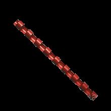 Пружины пластиковые d 14 мм, круглые, сшивают 81-100 л. А4, красные f.53468