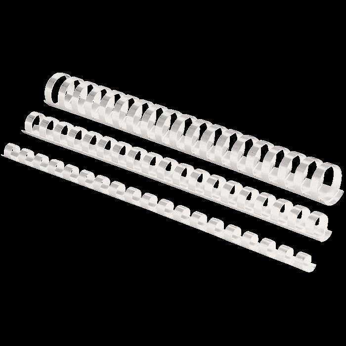 Пружины пластиковые d 10 мм, круглые, сшивают 41-55 листов А4, белые f.53458