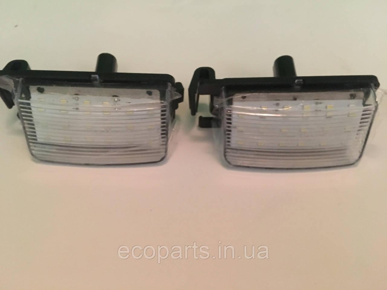 Ліхтар підсвічування заднього номера Nisssan Leaf (LED) комплект із 2 шт