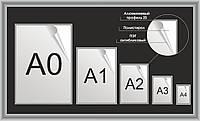 Рамка с клик системой А0, А1, А2, А3, А4 формата