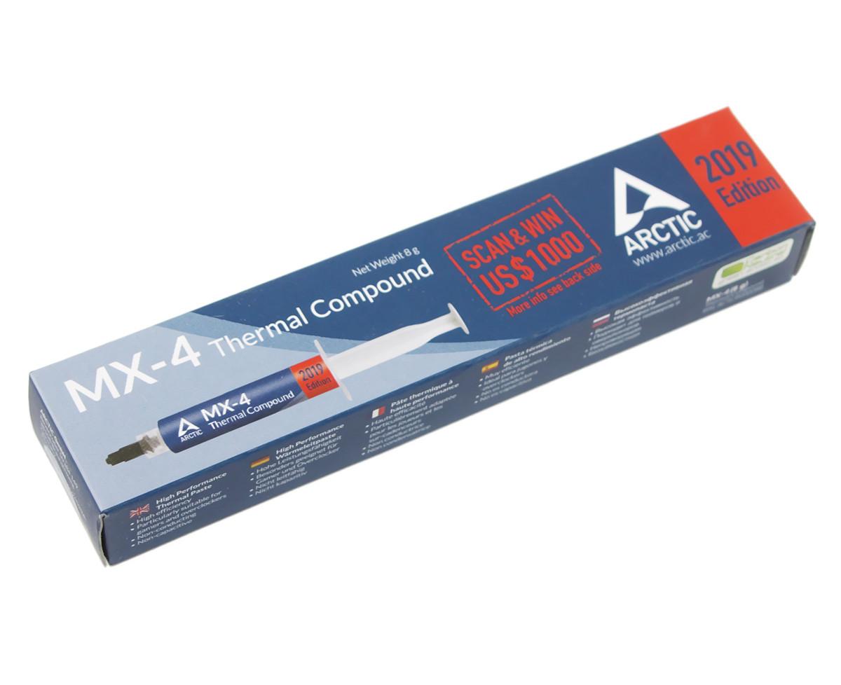 "Термопаста Arctic MX-4 ""2019 Edition"", 8 г, шприц, 8.5 Вт/мК, -50°C / +160°C (ACTCP00008B)"