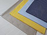 Відріз тканини блакитний в густий білий горошок 3 мм. Розмір відрізу 50*50 см, фото 2
