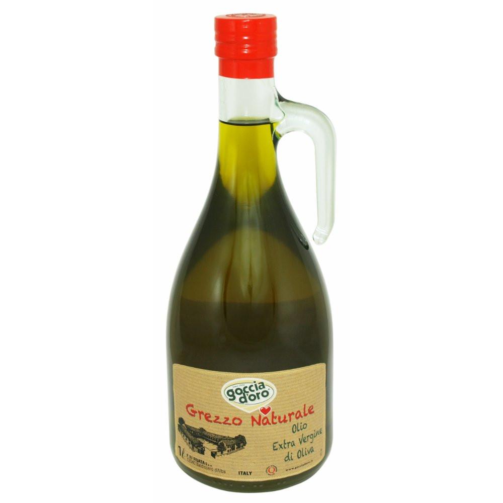 Оливковое масло первого холодного отжима Extra Virgin Grezzo Naturale Goccia D'Oro - 1л