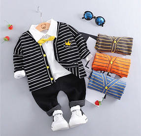 Нарядный костюм тройка на мальчика  джентельмен  с бабочкой 1-3 года