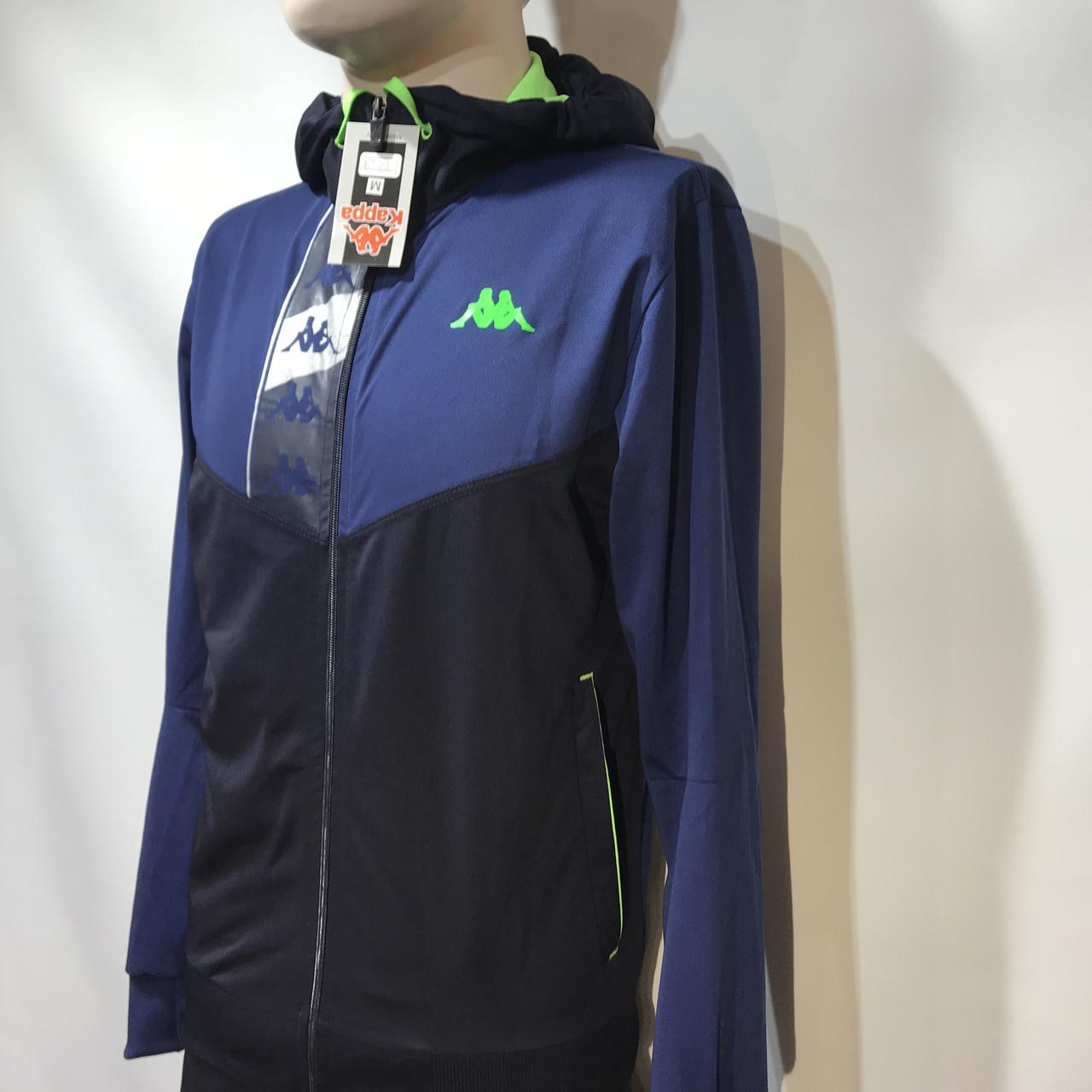 Мужской спортивный костюм Карра реплика Каппа темно- синий
