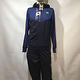 Чоловічий спортивний костюм Карра репліка Каппа темно - синій, фото 2