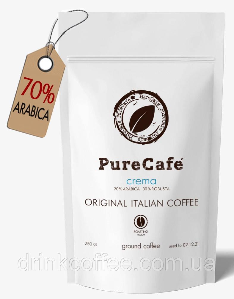 Кава PureCafe Crema мелений 70% Арабіки 30% Робусти Італія 250g