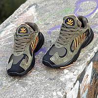 Кроссовки мужские кожаные хаки Yung-1 (Код: 1425а)