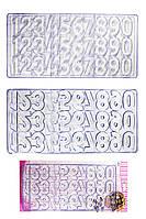 Поликарбонатная форма для шоколада и конфет Цифры на 21 ячейки