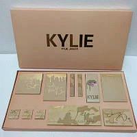 Большой подарочный набор косметики Kylie Jenner Gold 12 в 1 Золотой