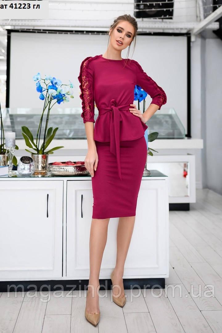 Женский костюм с юбкой ат 41223 гл Код:933469967