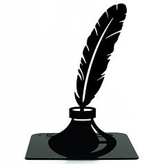 Упор для книг Glozis Feather 15 х 12 см Черный (G-036)