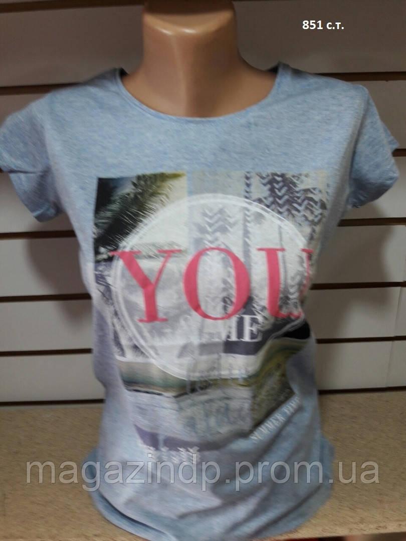 Летняя женская футболка YOU 851 с.т. Код:942571760