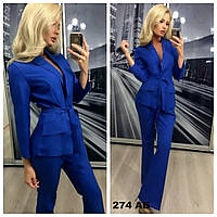 Женский костюм пиджак + брюки 274 АБ Код:942785808