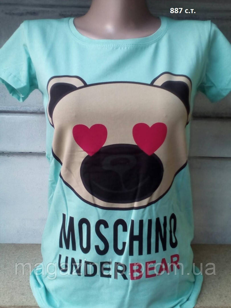 Женская футболка Moschino 887 с.т. Код:944210095