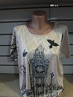 Женская летняя футболка батал 891 с.т. Код:944237640